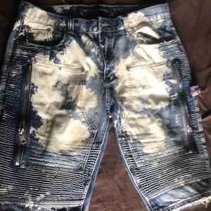 Heritage America moto Jean shorts